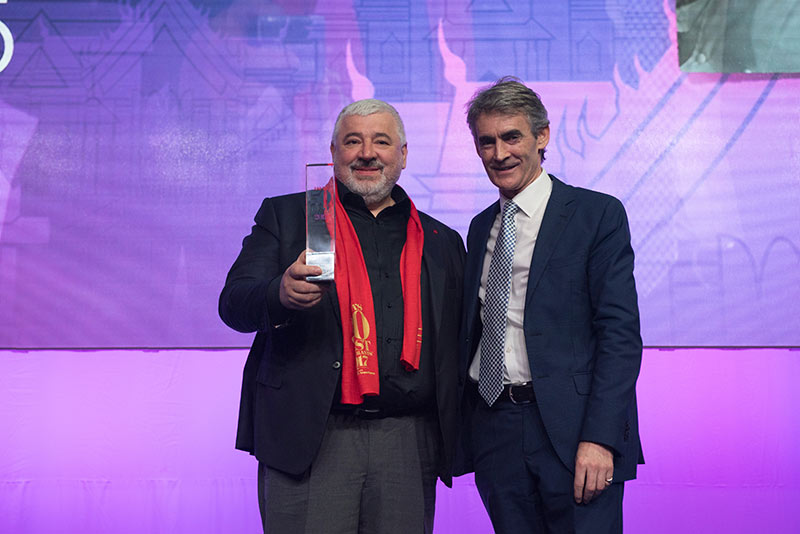 Umberto Bombana (8½ Otto e Mezzo Bombana, Hong Kong) is the 2017 recipient of The Diners Club® Lifetime Achievement Award, presented at Asia's 50 Best Restaurants awards ceremony.
