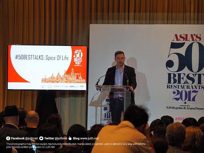 คุณ William Drew, Group Editor, Asia's 50 Best Restaurants