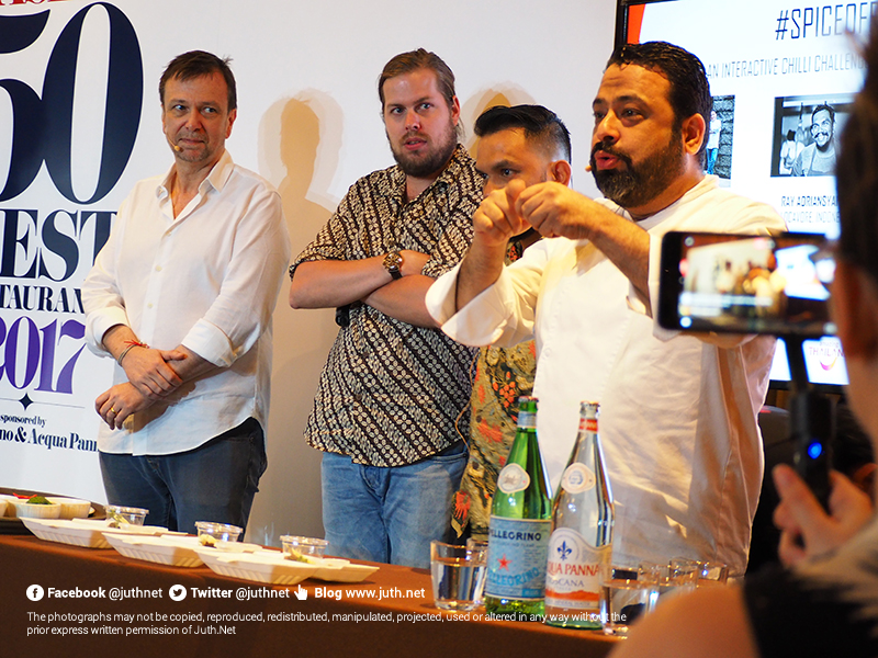 An interactive chilli challenge featuring: David Thompson, Manish Mehrotra, Ray Adriansyah and Eelke Plasmeijer