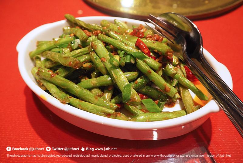 ถั่วแขกผัดหมูสับ 乾煸肉鬆四季豆